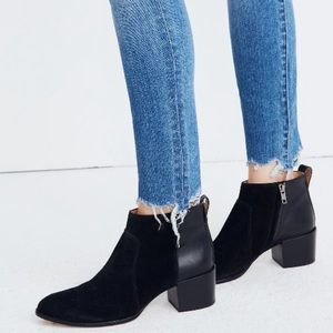 Madewell The Asher Boot in Black Block Heel Size 8